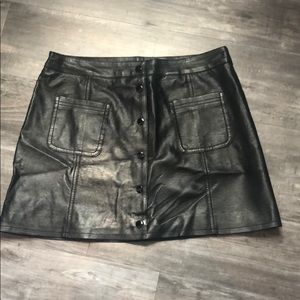 Divided H&M Faux Leather Skirt